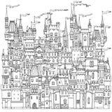 从一个童话的装饰城堡 免版税图库摄影