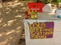 一个简单的海滩酒吧在加勒比 库存照片