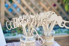 一个精妙的婚礼的美丽的婚礼装饰 免版税库存照片
