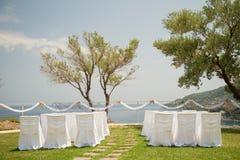 一个精妙的婚礼的美丽的婚礼装饰 图库摄影