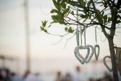 一个精妙的婚礼的美丽的婚礼装饰 库存图片