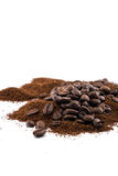Coffee_cup_beans 免版税库存图片