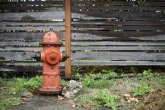 一个精密消防龙头在雨中 免版税库存图片