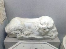 一个精美中国古老枕头 库存图片