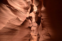 一个红色岩石峡谷的织地不很细墙壁在纳瓦霍族保留地的 库存图片