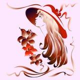 一个红色帽子的女孩 免版税图库摄影