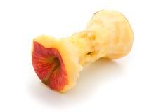 一个红色苹果的核心 免版税图库摄影