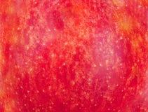 一个红色苹果的纹理 库存照片