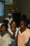 一个组十几岁的男孩在布隆迪。 免版税图库摄影