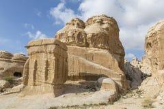 一个结构,约旦的细节在Petra的 免版税库存照片