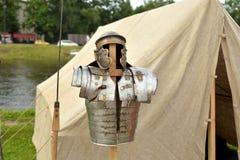 一个罗马军团的装甲的重建 免版税库存图片