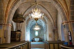 一个罗马教会的内部有独特的壁画的 免版税库存照片