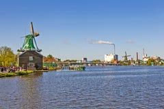 一个美丽如画的民族志学村庄 Zanes-Schans 荷兰 库存图片