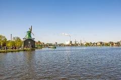 一个美丽如画的民族志学村庄 Zanes-Schans 荷兰 免版税图库摄影