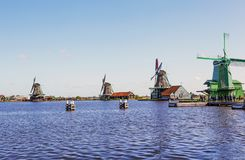 一个美丽如画的民族志学村庄 Zanes-Schans 荷兰 库存照片