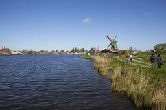 一个美丽如画的民族志学村庄 Zanes-Schans 荷兰 免版税库存照片