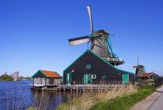 一个美丽如画的民族志学村庄 Zanes-Schans 荷兰 免版税库存图片