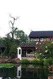 一个美丽的中国庭院 免版税库存照片
