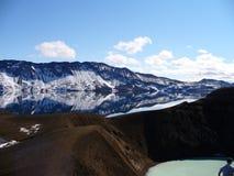 一个美丽的冰河湖在冰岛 图库摄影