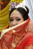 一个美丽的印地安新娘 免版税库存照片