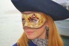 一个美丽的女孩在威尼斯 库存图片