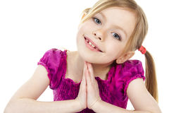一个美丽的女孩孩子 免版税库存照片