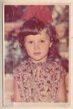一个美丽的女孩的一张老照片 库存照片