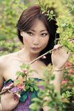 一个美丽的女孩的画象有穿着考究的皮肤和美好的构成的 免版税图库摄影