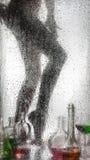 一个美丽的女孩的腿