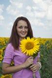 一个美丽的女孩的画象自然的。 图库摄影