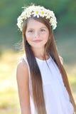 一个美丽的小女孩的画象 库存图片