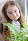 一个美丽的小女孩 库存图片