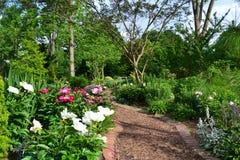 一个美丽的庭院路径 免版税库存照片