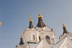一个美丽的教会的圆顶1210 免版税库存照片