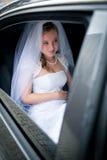 一个美丽的新新娘的纵向 免版税图库摄影