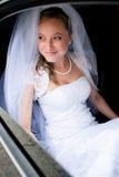 一个美丽的新新娘的纵向 免版税库存照片