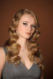 一个美丽的新金发碧眼的女人 库存照片