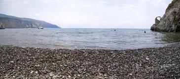 一个美丽的海湾的看法 库存图片