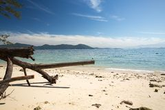 一个美丽的海滩在亚庇 免版税库存图片