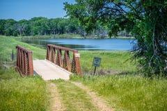 一个美丽的湖公园在Hagerman野生生物保护区,得克萨斯 免版税库存图片