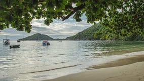 一个美丽的热带海滩 库存图片