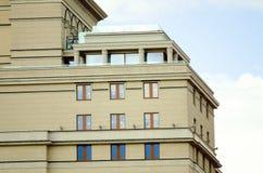 一个美丽的现代大厦的片段 库存照片