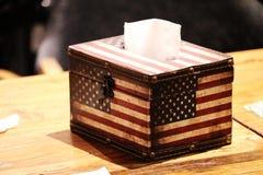 一个美丽的组织箱子 免版税库存照片