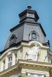 一个美丽的老大厦的葡萄酒屋顶在索非亚,保加利亚 免版税库存照片