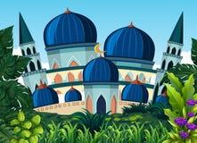 一个美丽的蓝色清真寺 皇族释放例证