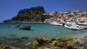 一个美好的天堂在希腊Parga海 免版税图库摄影