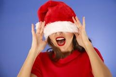 一个美好的妇女圣诞节概念 免版税库存图片