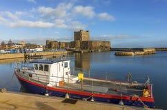 一个美好的早晨在Carrickfergus 免版税库存图片