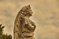一个美好的石天使 免版税库存图片