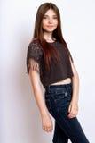 一个美好的13年年纪女孩 免版税库存照片